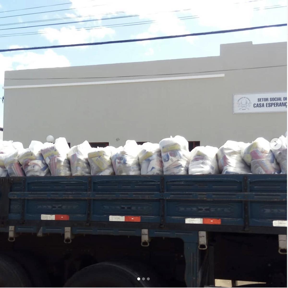 Cáritas Oeiras distribui mais de 1300 cestas arrecadadas na Campanha Ponte Solidária com o Piauí.