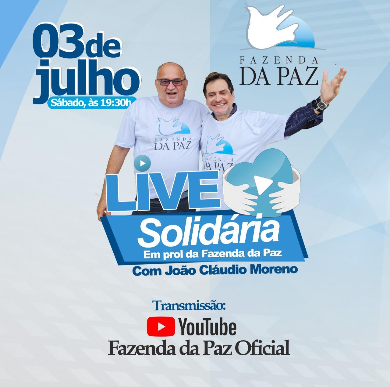 FAZENDA DA PAZ REALIZA LIVE SOLIDÁRIA COM JOÃO CLAÚDIO MORENO